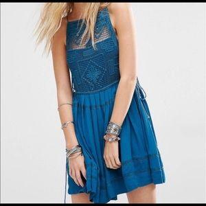Free People Emily Crochet Illusion Dress